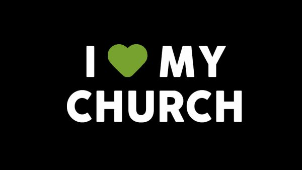 I Love My Church Because We Encourage One Another Image